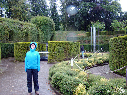 Yay, rainy English gardens! Photo by Kara.