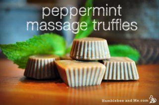Peppermint Massage Truffles