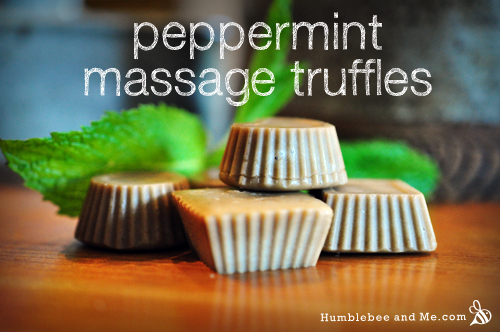 How to make Peppermint Massage Truffles