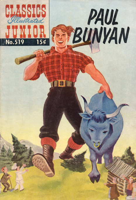 paul bunyan blue jeans a plaid shirt and some species of small blue stuffed animal an ox would be preferable but i think this costume could be pretty
