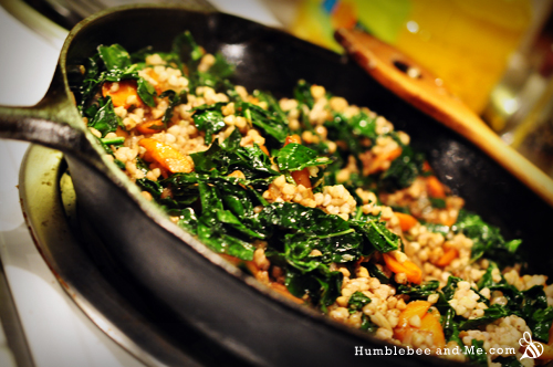 Hot Kale & Buckwheat Salad