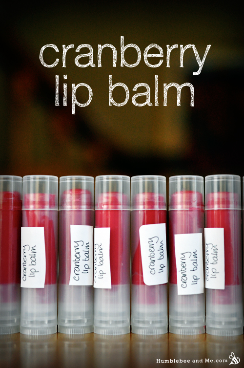 How to make Cranberry Lip Balm
