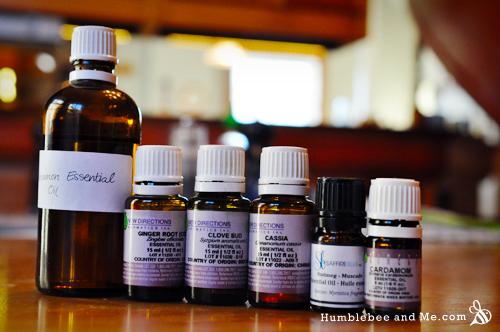 Spicy essential oils! You'll likely recognize most of these names from your spice drawer.