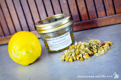 Honey, Lemon, and Chamomile Hair Rinse