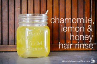 Honey, Lemon, and Chamomile Hair Rinse
