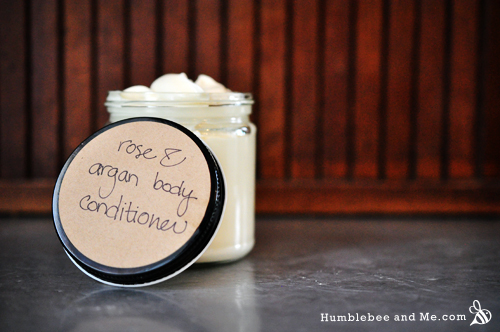 How to Make Rose Argan Body Conditioner
