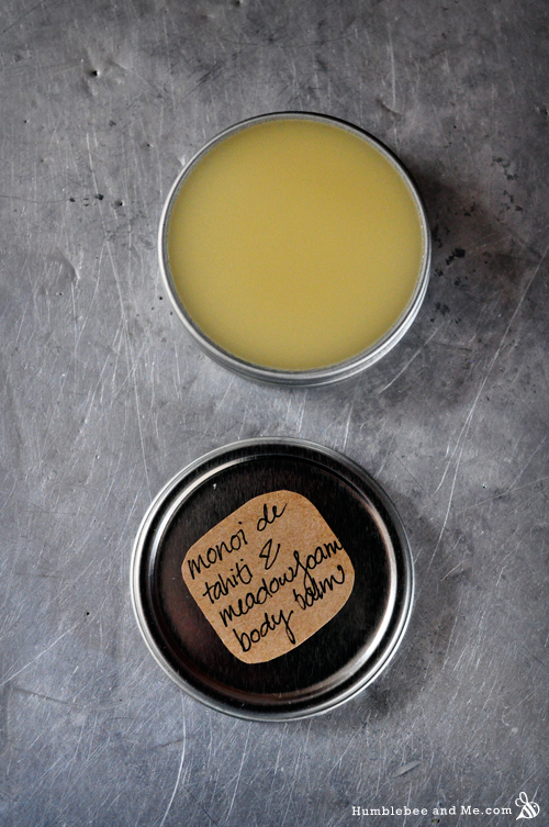 How to Make Monoi de Tahiti and Meadowfoam Lip & Body Balm