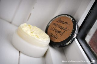 Lemon Meringue Whipped Soap