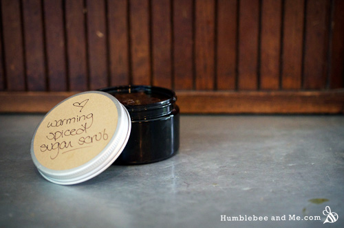 Warming Spiced Sugar Scrub - Humblebee & Me
