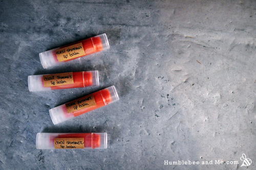 How to Make Coral Lip Balm