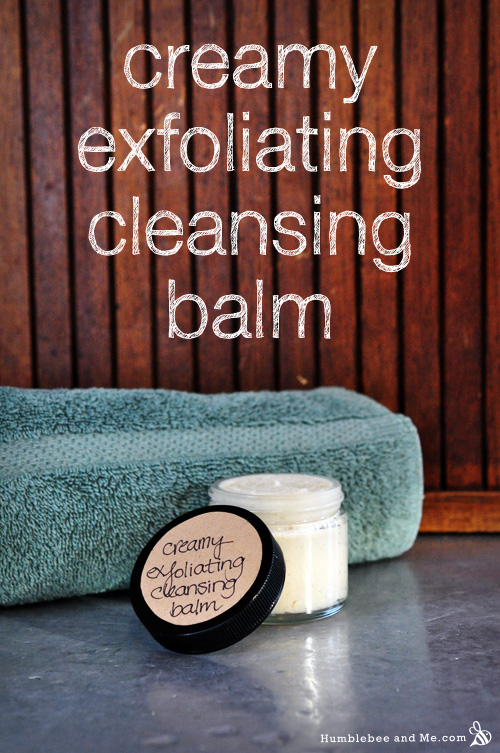 How to make Exfoliating Creamy Cleansing Balm