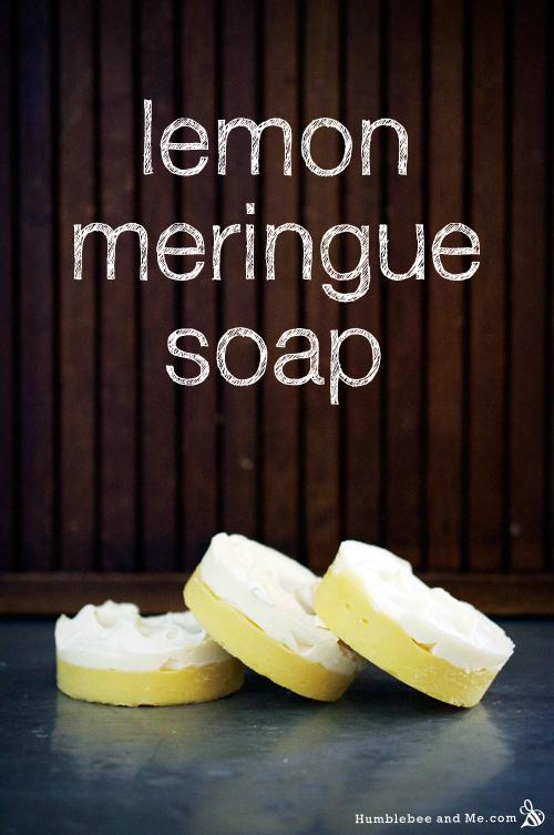 Лимонное мыло безе