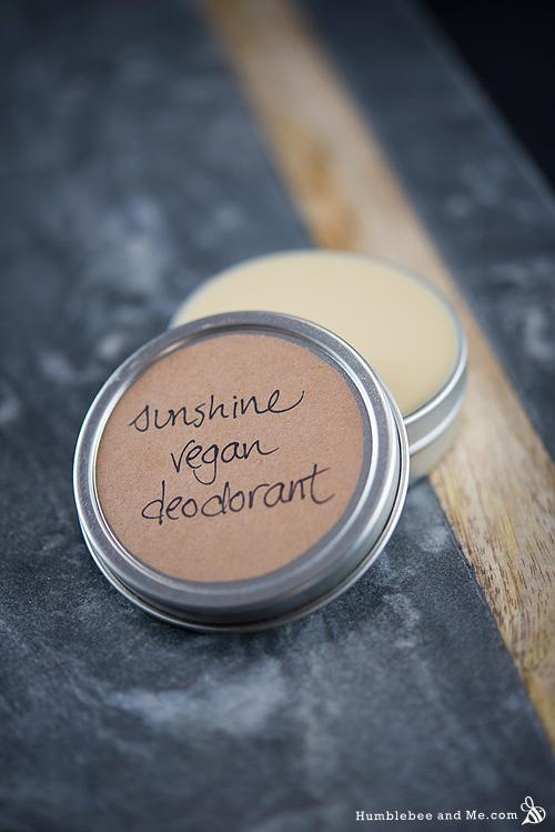 How to Make Sunshine Vegan Deodorant