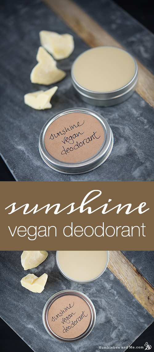 How to Make Sunshine Vegan Deodorant