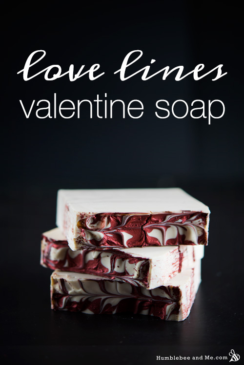 How to Make Love Lines Valentine Soap