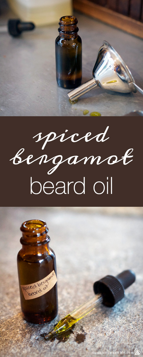 How to Make Spiced Bergamot Beard Oil