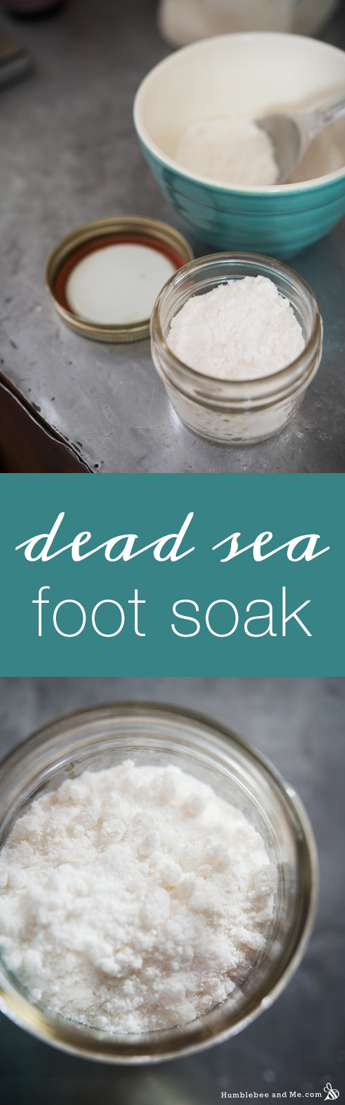 How to make a Dead Sea Foot Soak