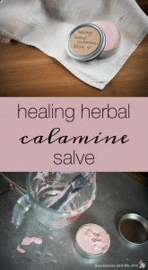 How to make a Healing Herbal Calamine Salve