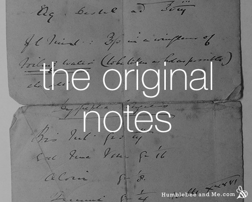The original vinolia soap notes