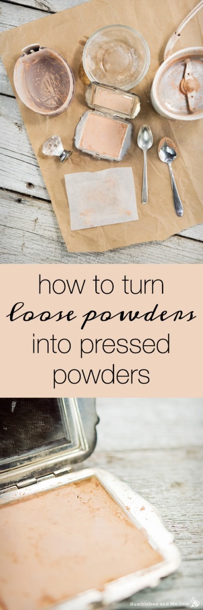 How to Turn Loose Powders into Pressed Powders