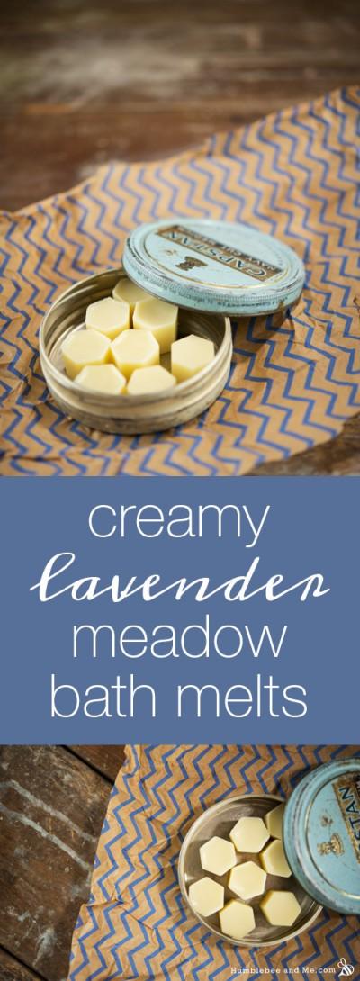 Creamy Lavender Meadow Bath Melts