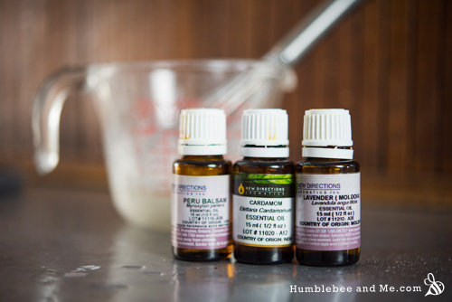 How to make a creamy lavender cardamom cleansing lotion.