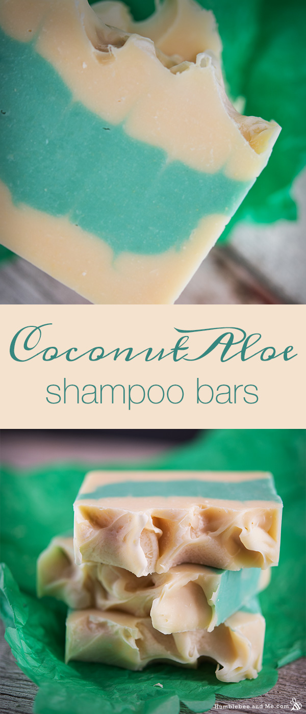 How to make Aloe Coconut Shampoo Bars