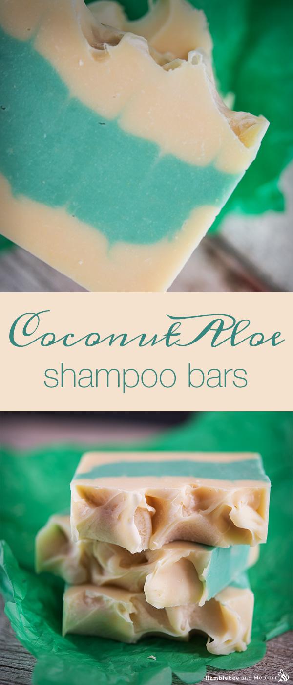 How to make Aloe Coconut Shampoo Bars