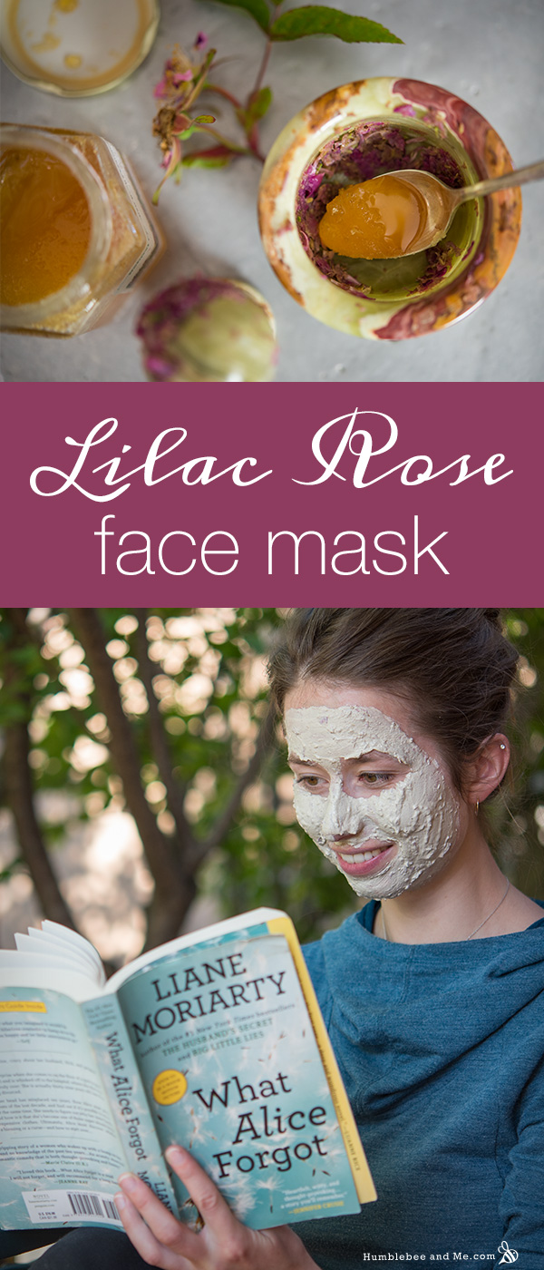 How to make a Lilac Rose Face Mask with fresh flowers from your garden