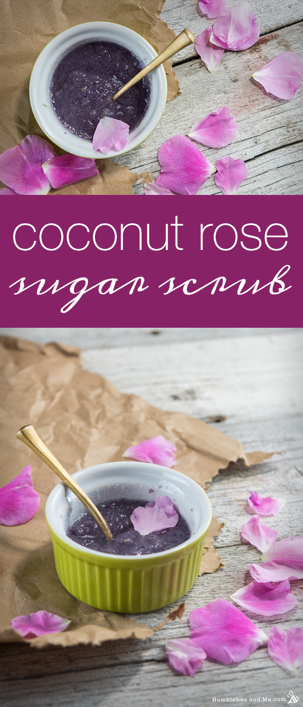 How to make a Coconut Rose Sugar Scrub
