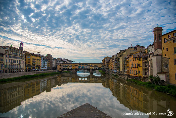 Ponte Vecchio in Florence—the only Medieval bridge in Florence that the Germans didn't destroy as part of their retreat in WWII.