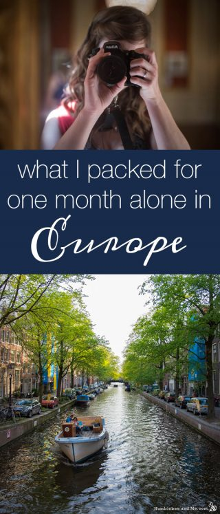 What I Packed for One Month Alone in Europe