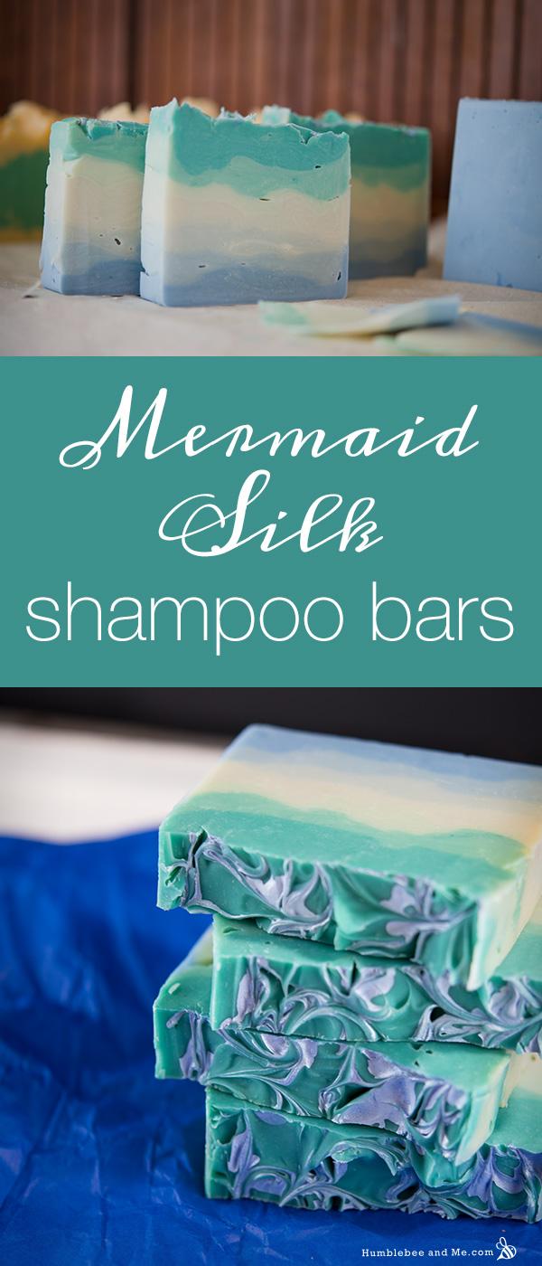 How to make Mermaid Silk Shampoo Bars