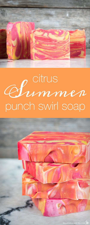 Как сделать вихревое мыло Цитрусовый летний пунш