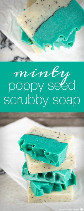 Minty Poppy Seed Scrubby Soap