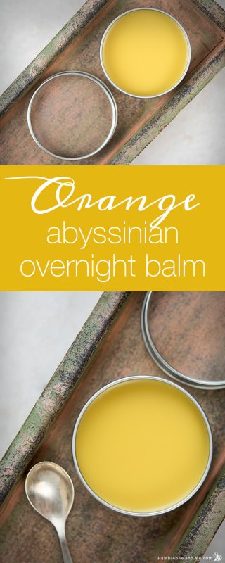Orange Abyssinian Overnight Balm