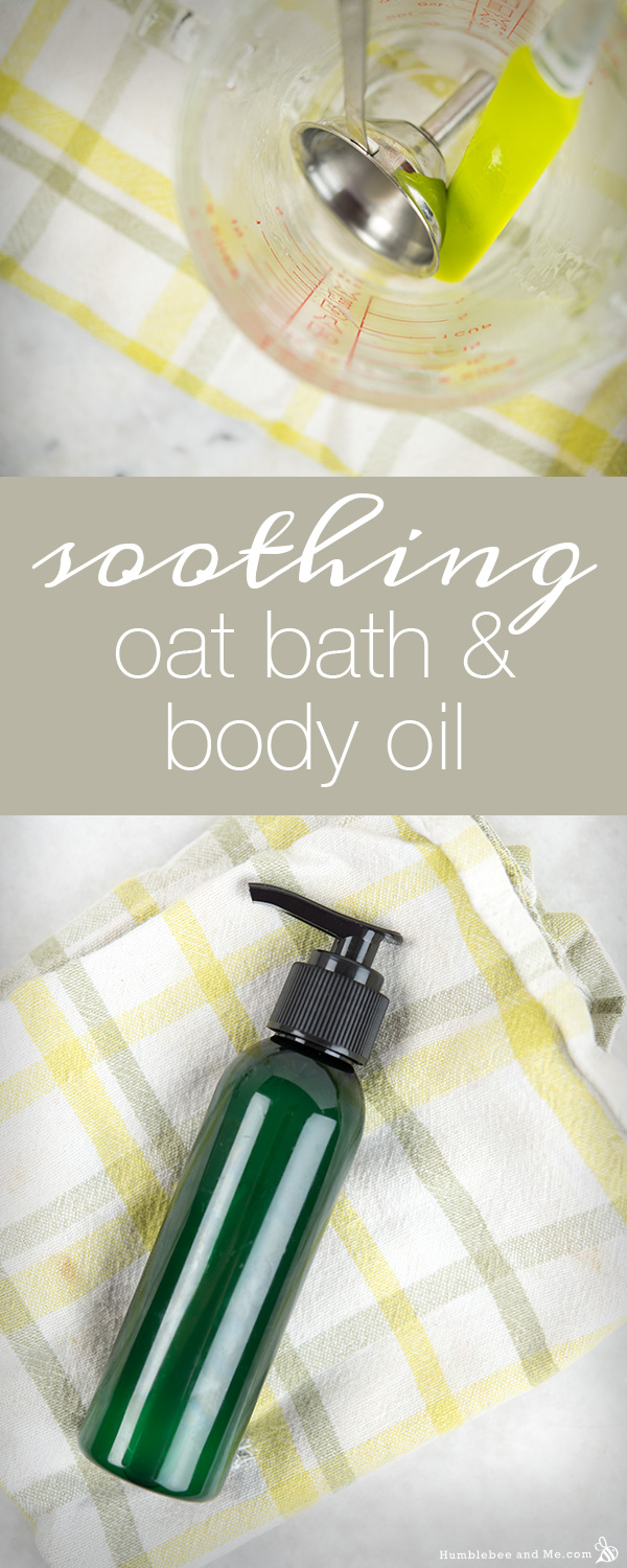 How to Make Soothing Oat Bath and Body Oil - Humblebee & Me