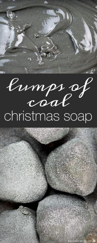 Lumps of Coal Christmas Soap