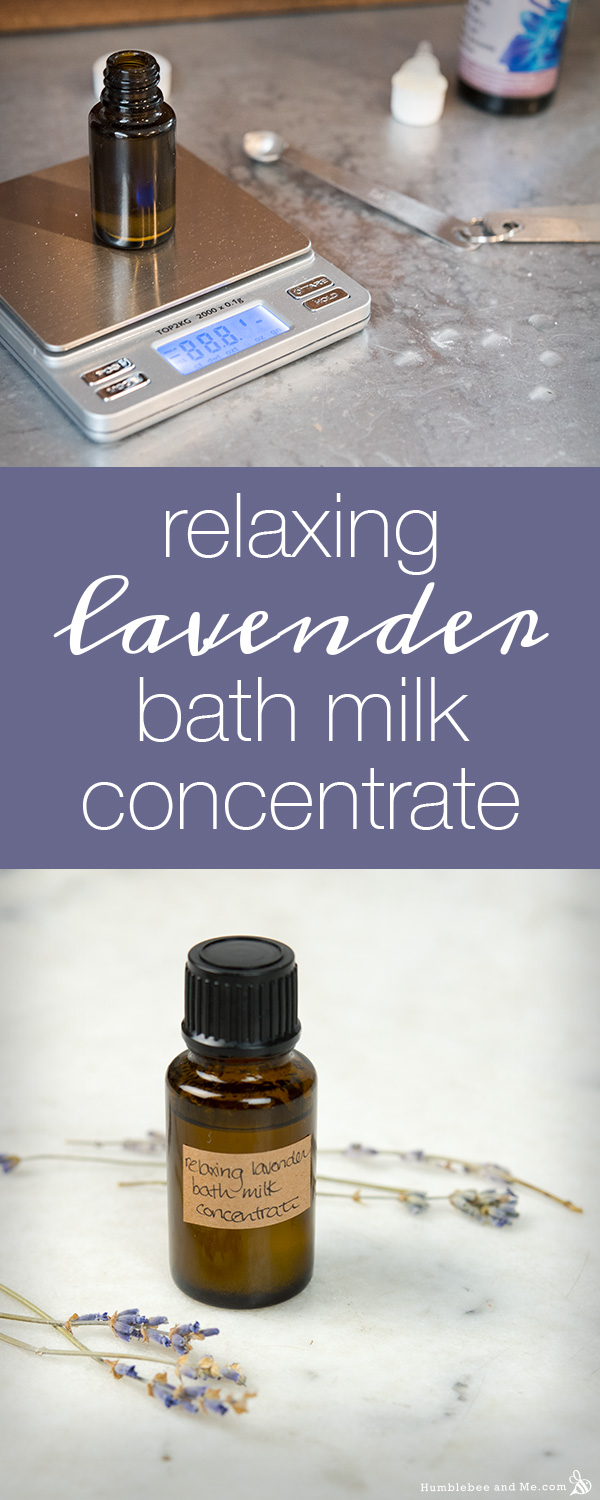How to make Relaxing Lavender Bath Milk Concentrate