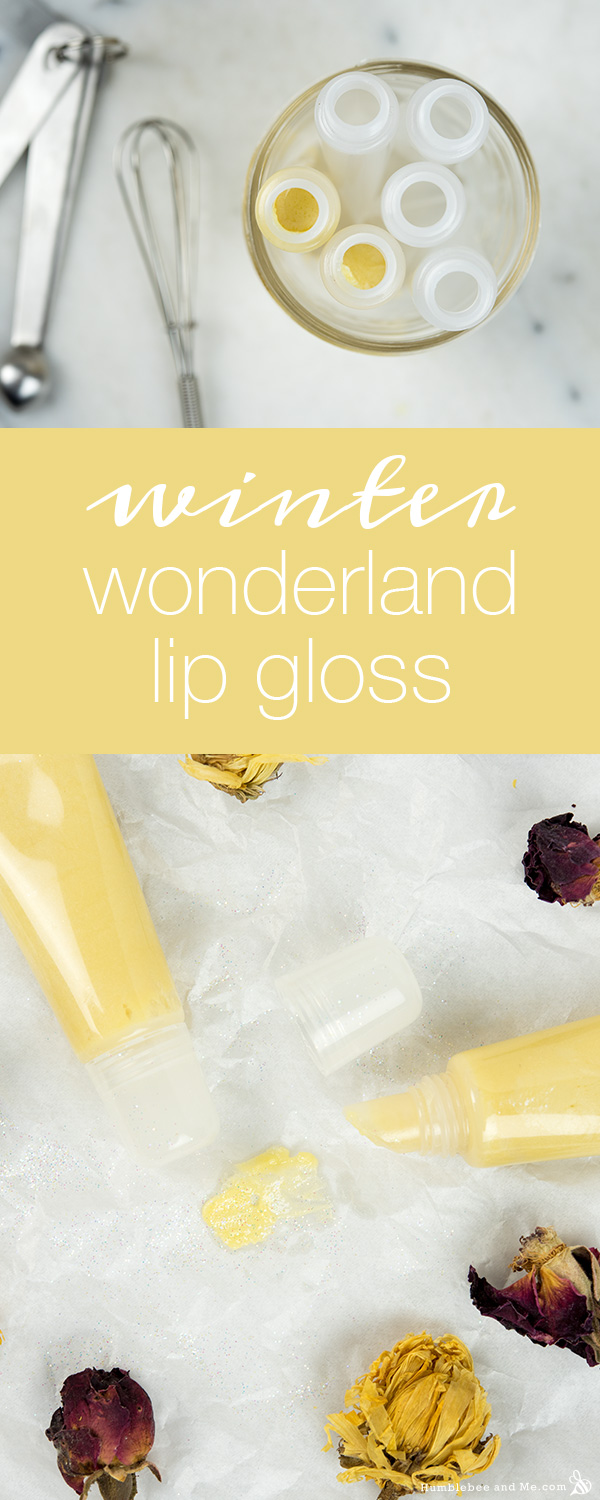 How to Make Winter Wonderland Lip Gloss