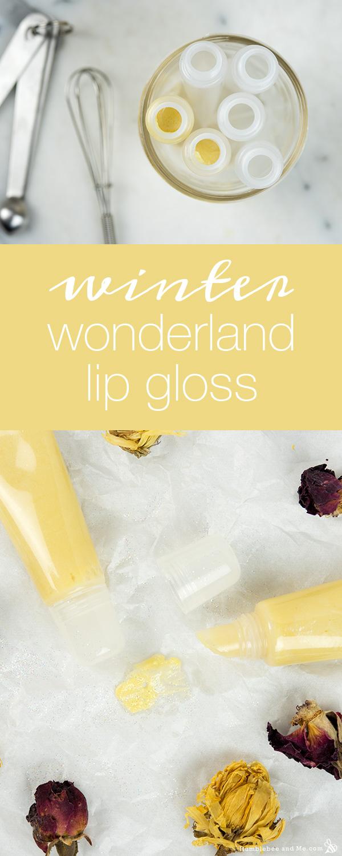How to Make Winter Wonderland Lip Gloss