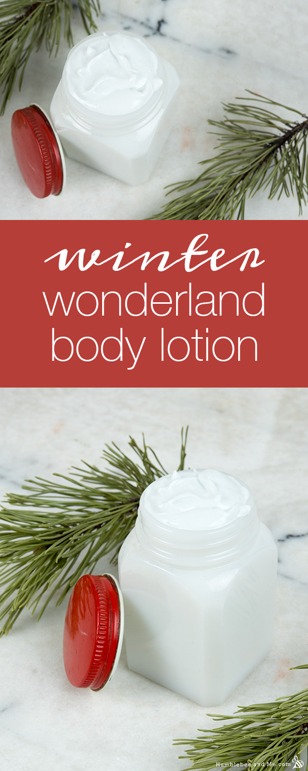 How to Make Winter Wonderland Body Lotion