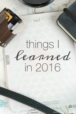 Things I Learned in 2016