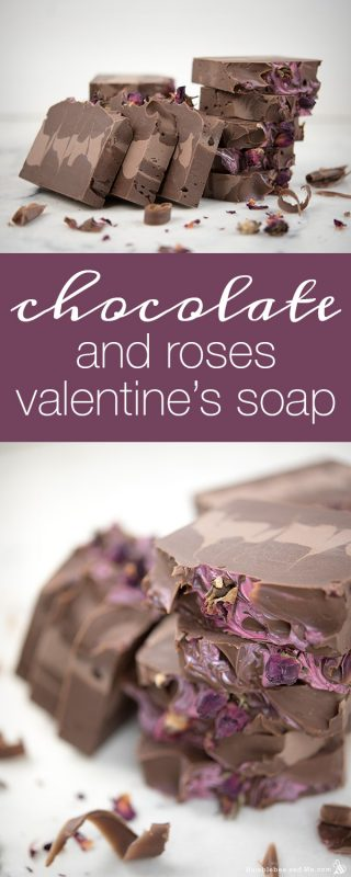 Chocolate and Roses Valentine Soap