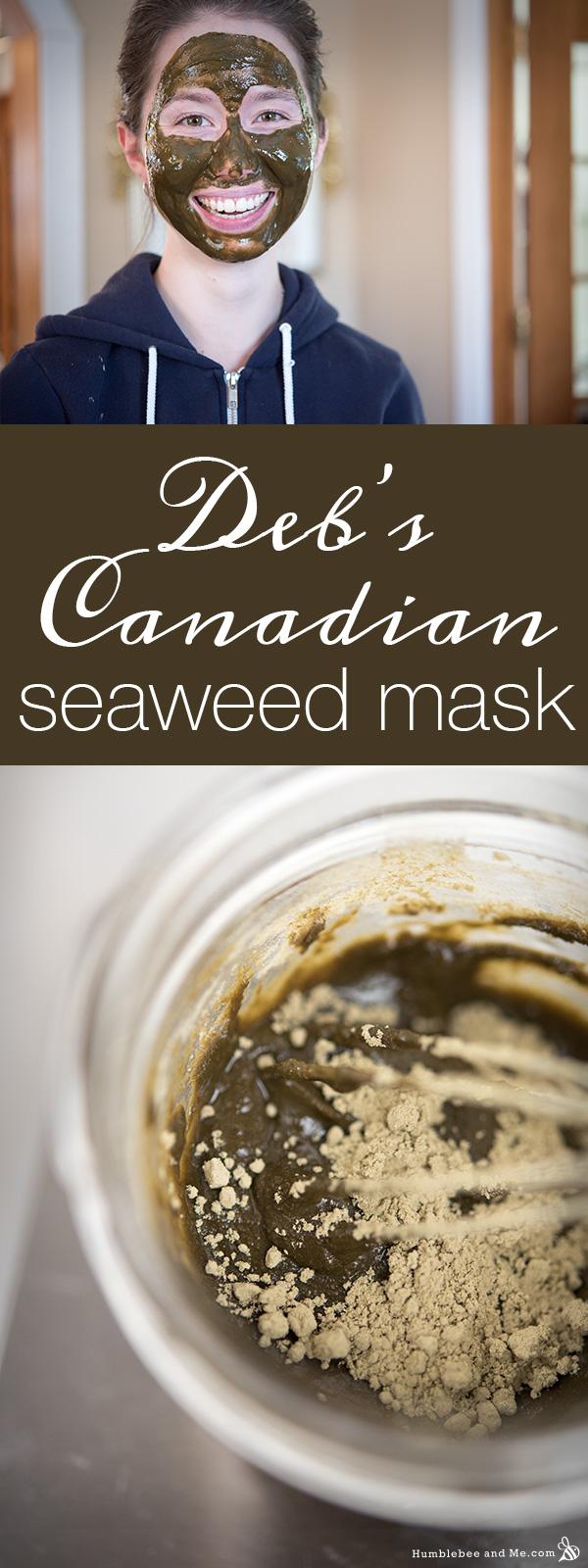 Deb - s канадская маска из морских водорослей