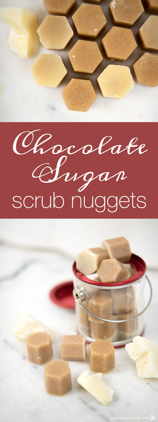How to Make Chocolate Sugar Scrub Nuggets
