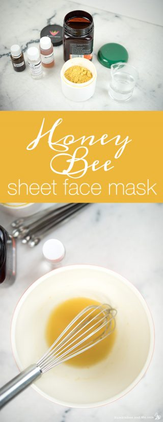 Honey Bee Sheet Face Mask