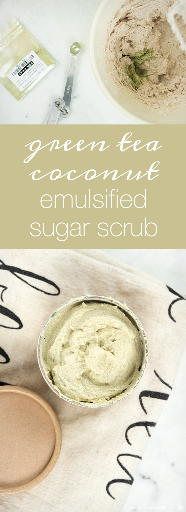 How to Make Green Tea Coconut Emulsified Sugar Scrub