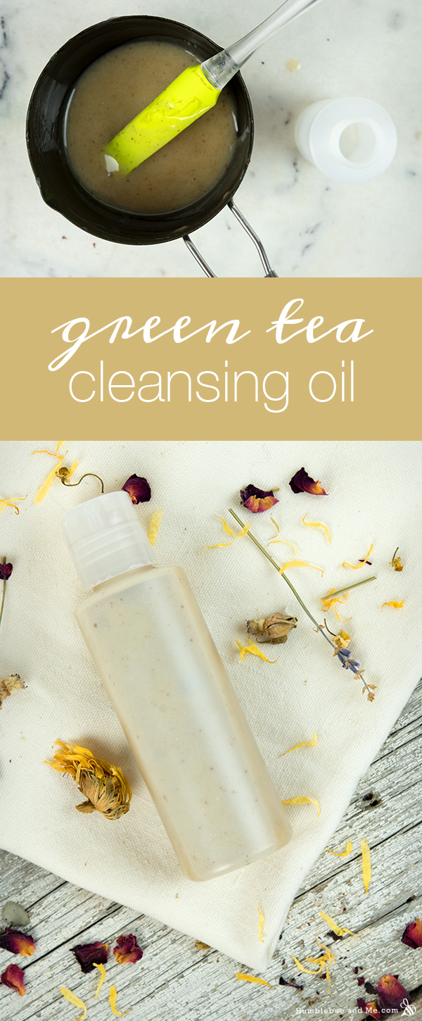 How to Make Green Tea Cleansing Oil