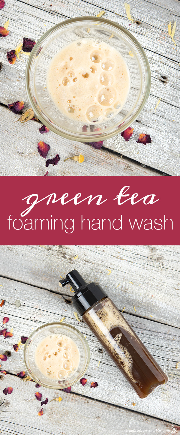 How to Make Green Tea Foaming Hand Wash